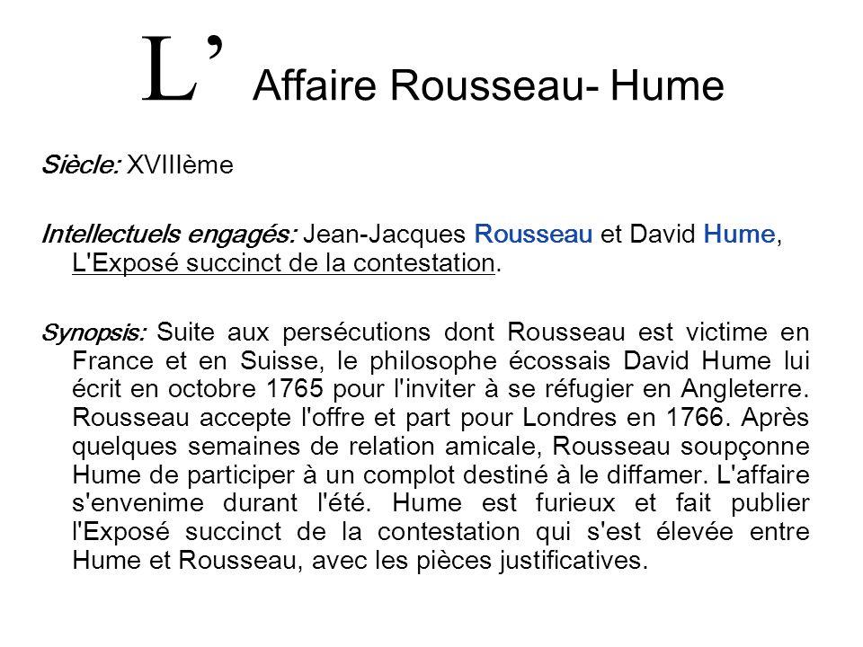L' Affaire Rousseau- Hume