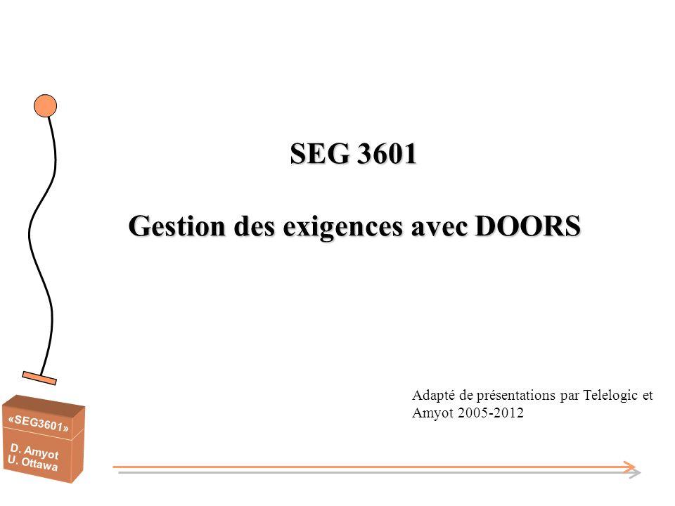 SEG 3601 Gestion des exigences avec DOORS