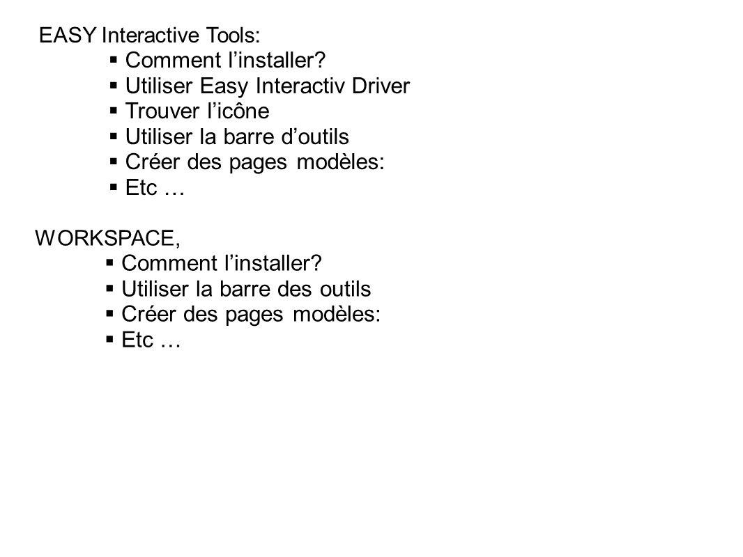 Utiliser Easy Interactiv Driver Trouver l'icône