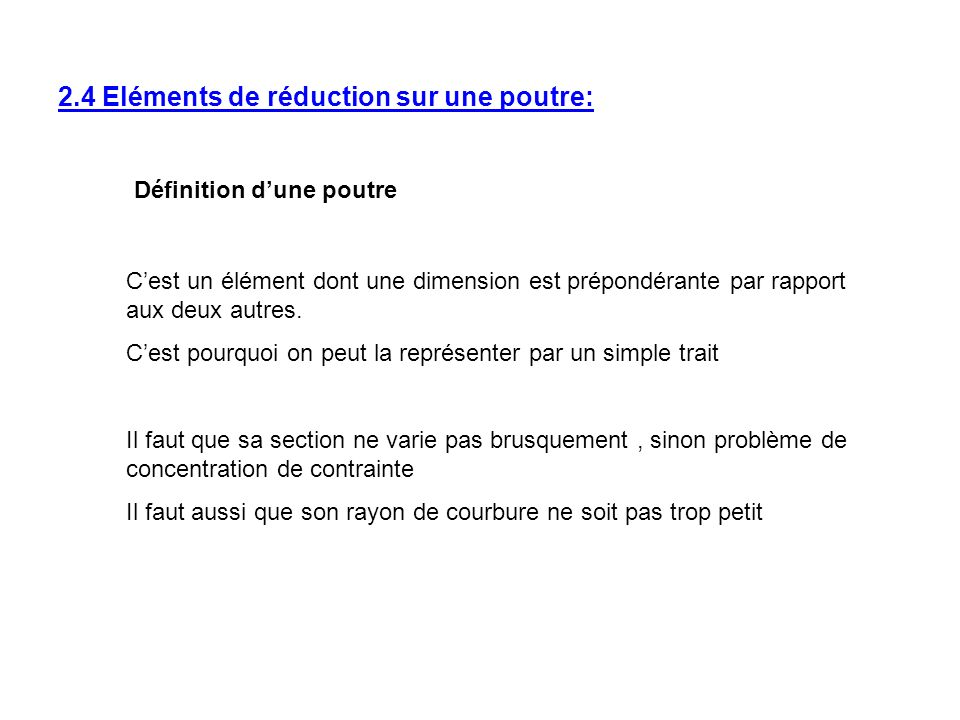 L ments de r duction sur une poutre ppt t l charger - Definition d une poutre ...