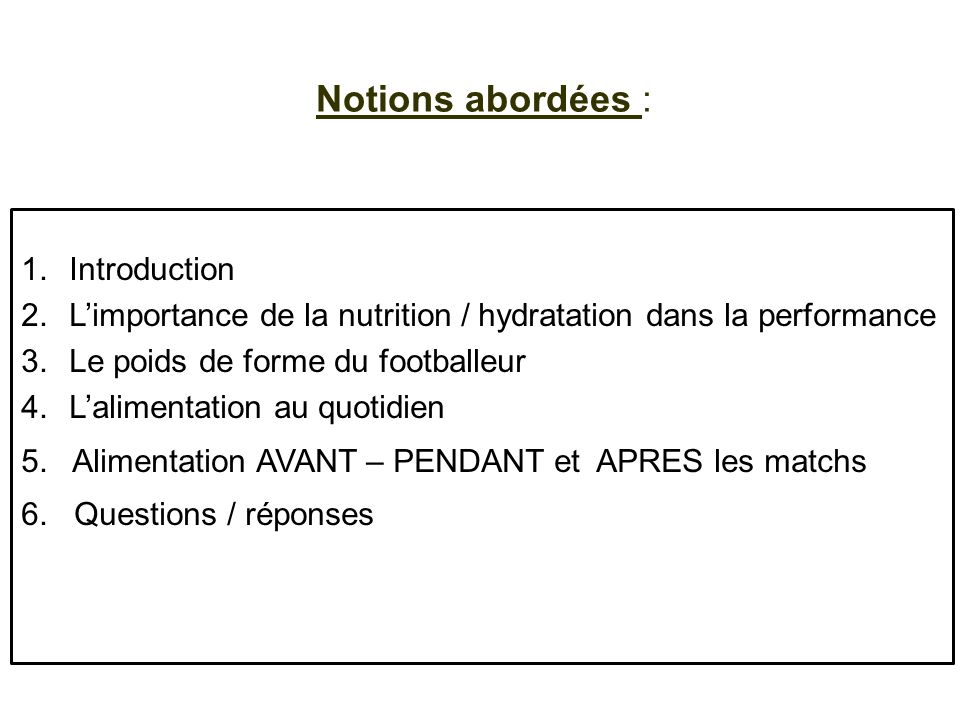 Notions abordées : Introduction