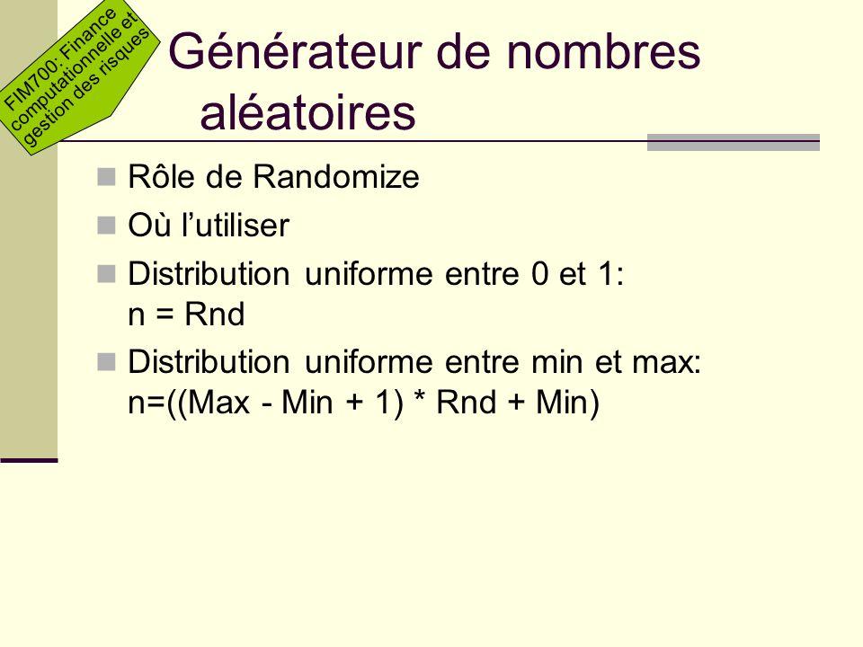 Générateur de nombres aléatoires
