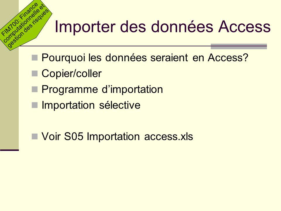 Importer des données Access
