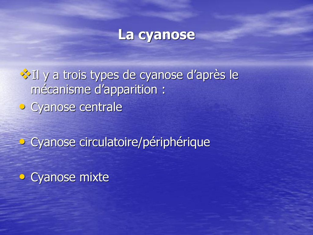 centrale cyanose baby