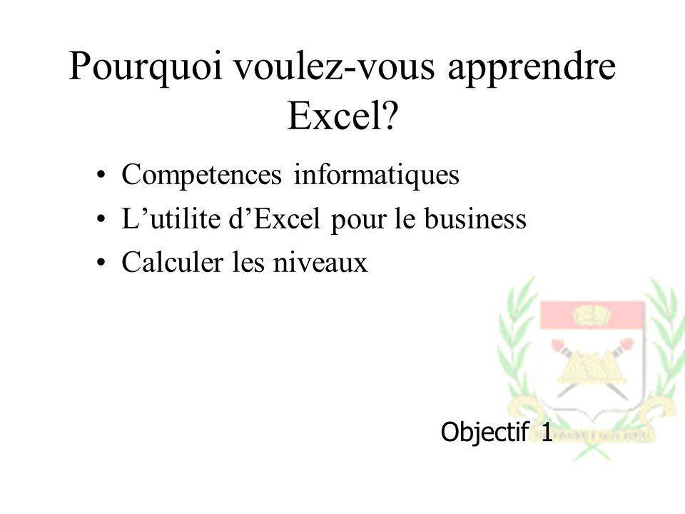 Pourquoi voulez-vous apprendre Excel