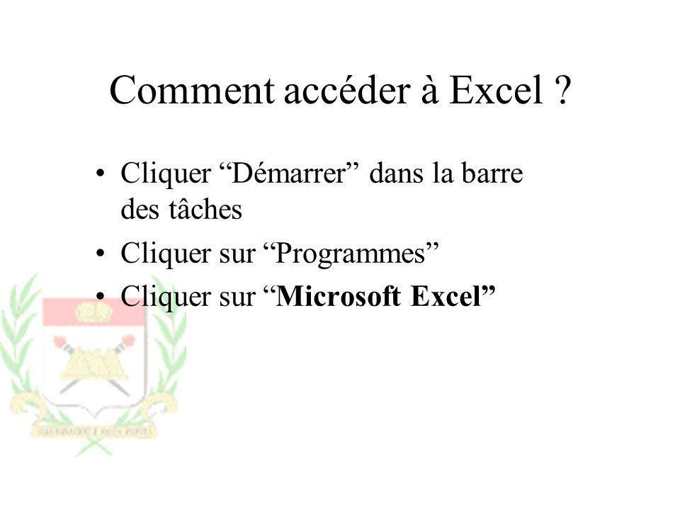 Comment accéder à Excel