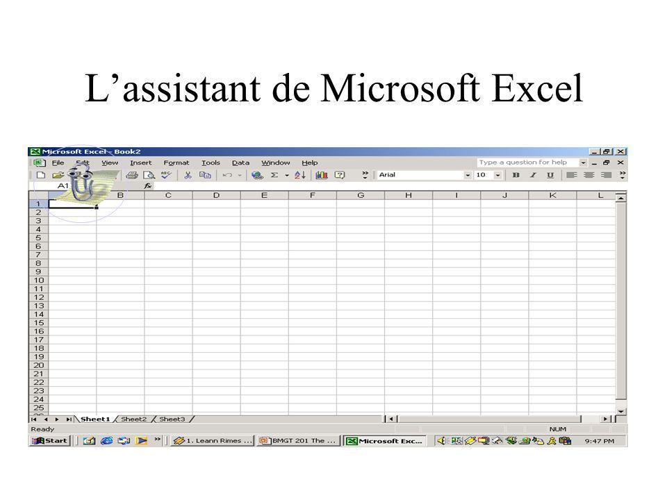 L'assistant de Microsoft Excel