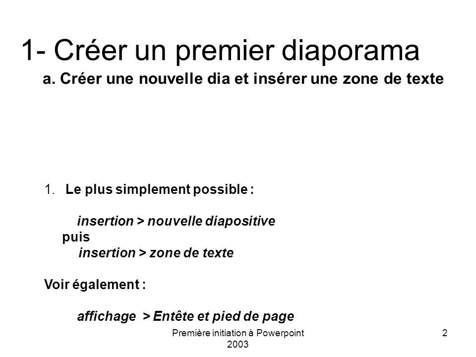 1- Créer un premier diaporama