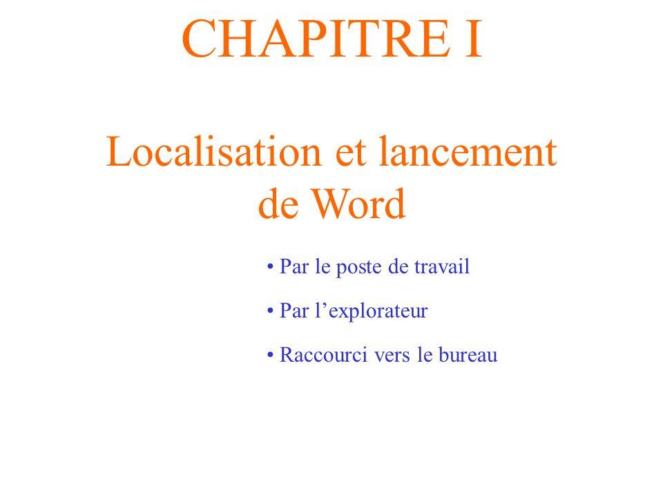 Localisation et lancement