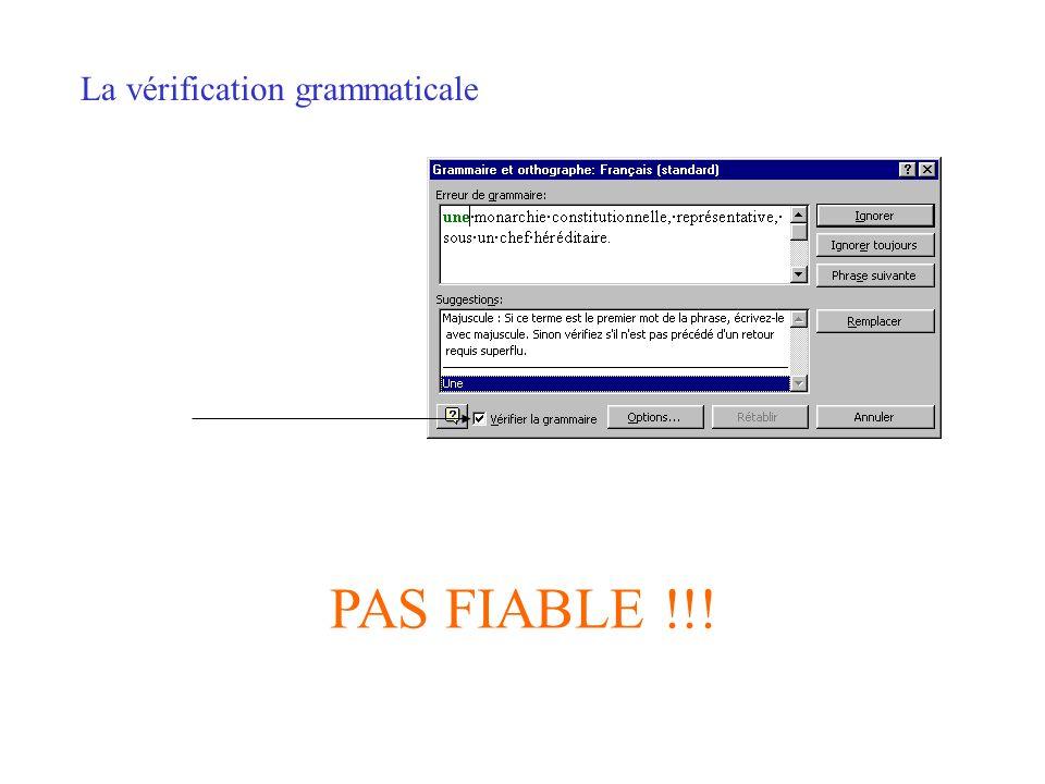 La vérification grammaticale