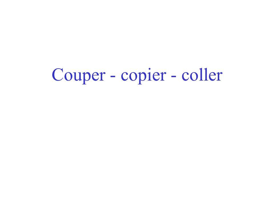 Couper - copier - coller