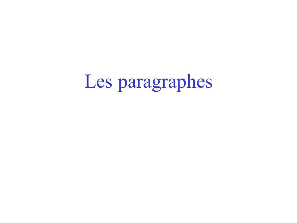 Les paragraphes