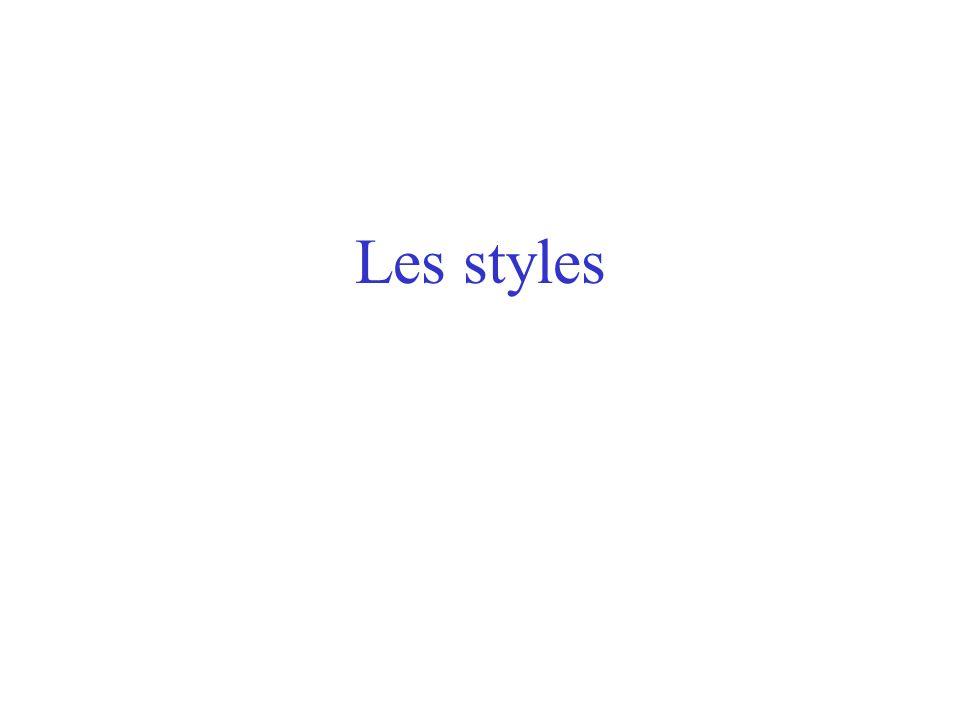 Les styles