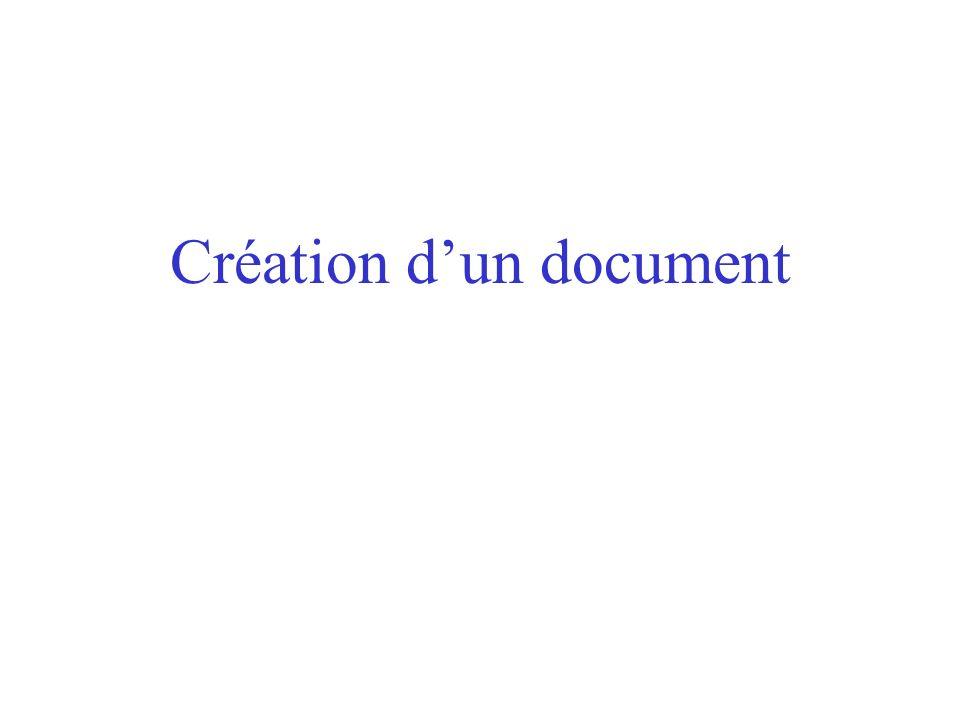 Création d'un document