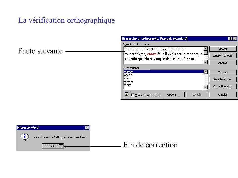 La vérification orthographique