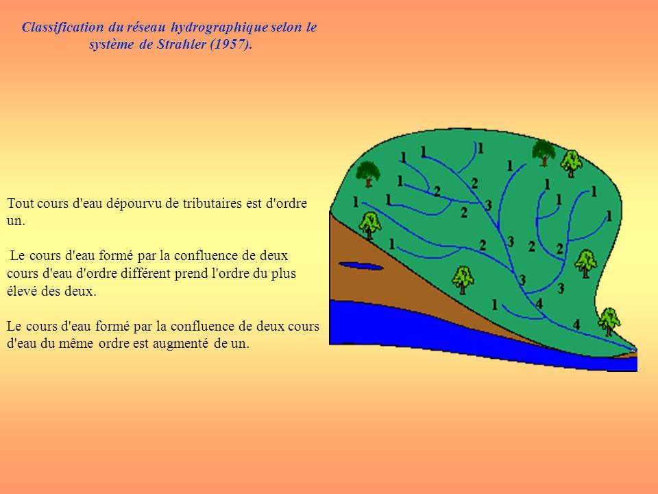 Classification du réseau hydrographique selon le