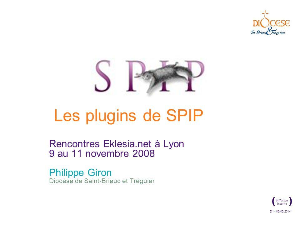 Les plugins de SPIPRencontres Eklesia.net à Lyon 9 au 11 novembre 2008.