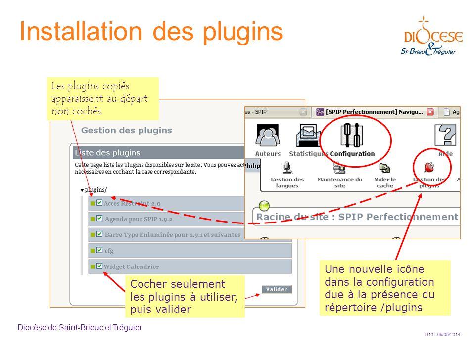 Installation des plugins