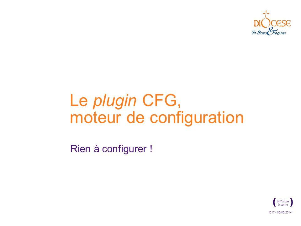 Le plugin CFG, moteur de configuration