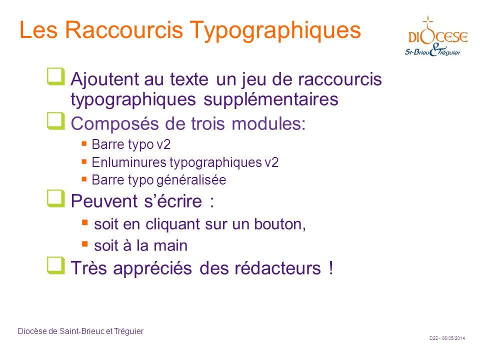 Les Raccourcis Typographiques