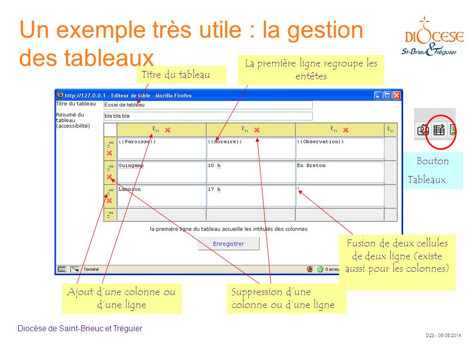 Un exemple très utile : la gestion des tableaux