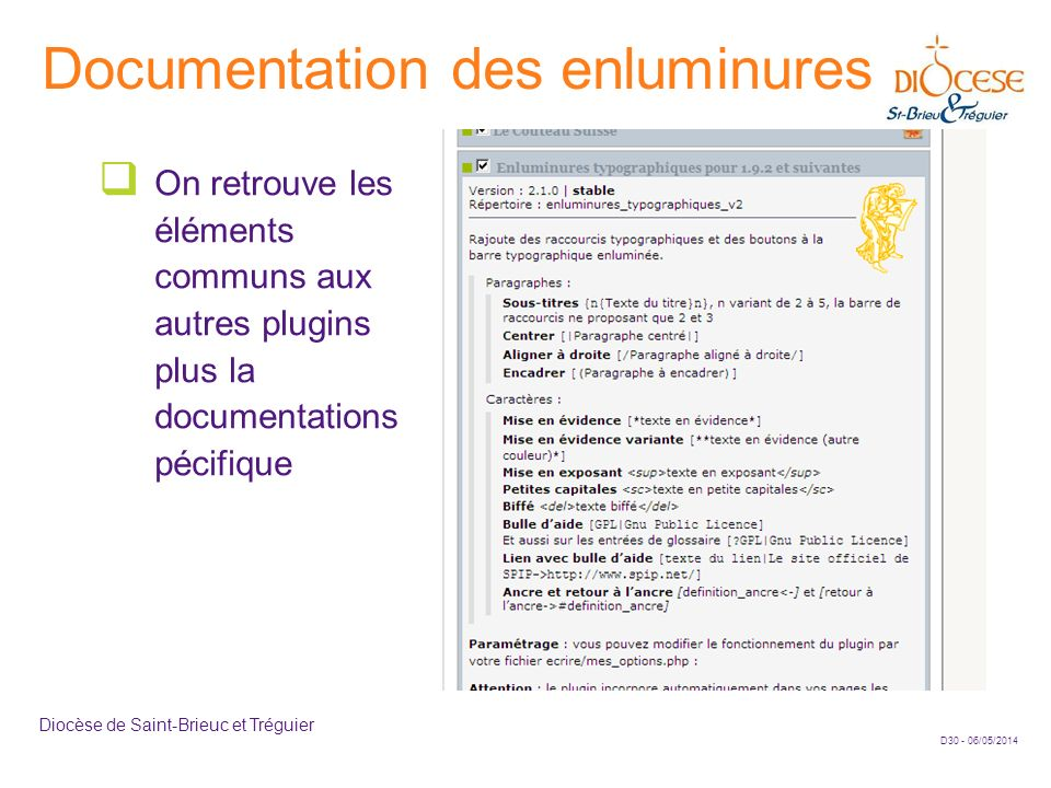 Documentation des enluminures