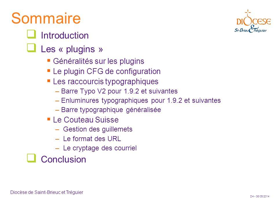 Sommaire Introduction Les « plugins » Conclusion
