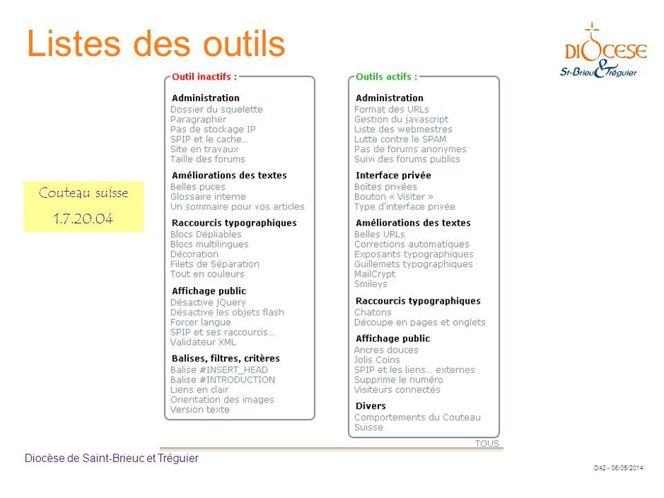 Listes des outils Couteau suisse 1.7.20.04
