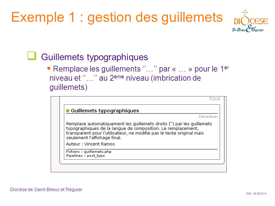Exemple 1 : gestion des guillemets