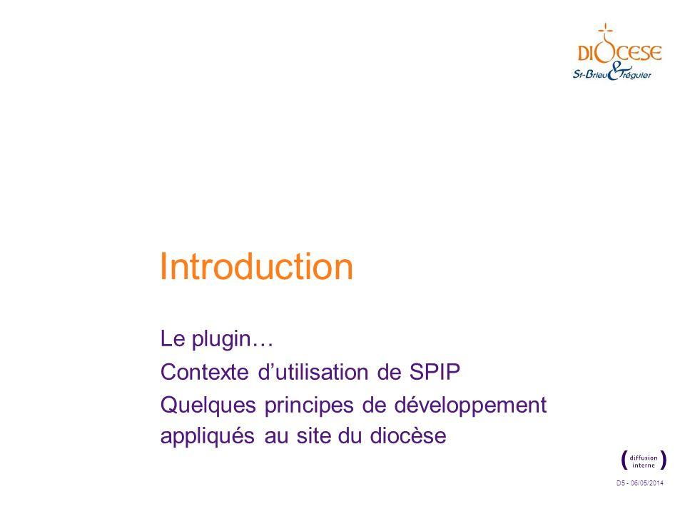 Introduction Le plugin… Contexte d'utilisation de SPIP