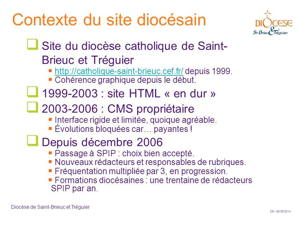 Contexte du site diocésain
