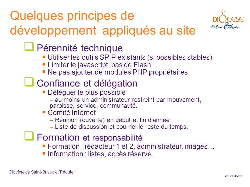 Quelques principes de développement appliqués au site