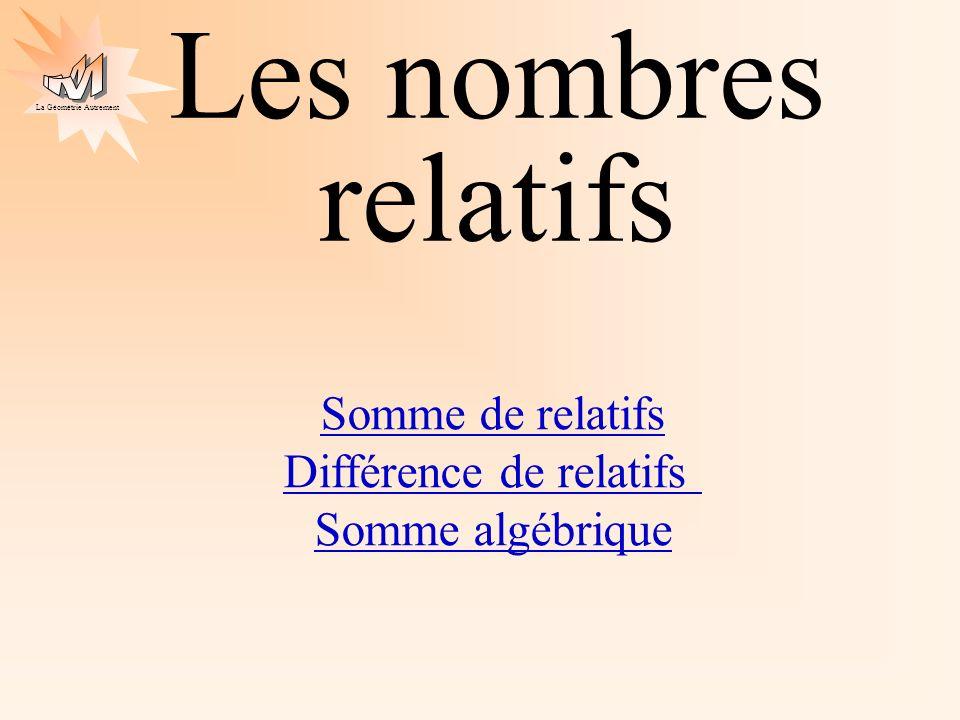 Différence de relatifs