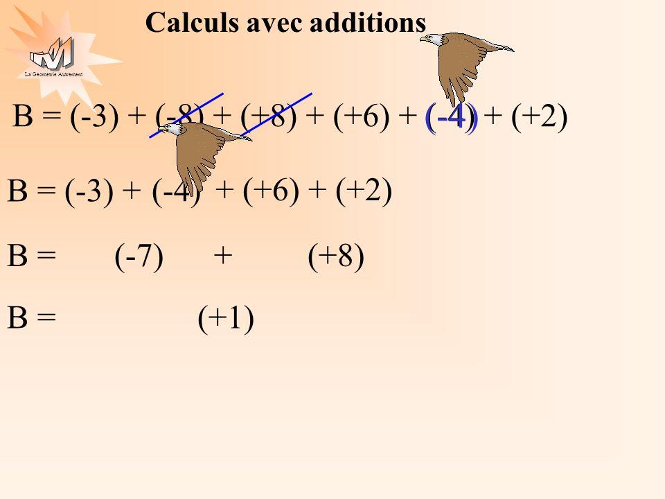 Calculs avec additions