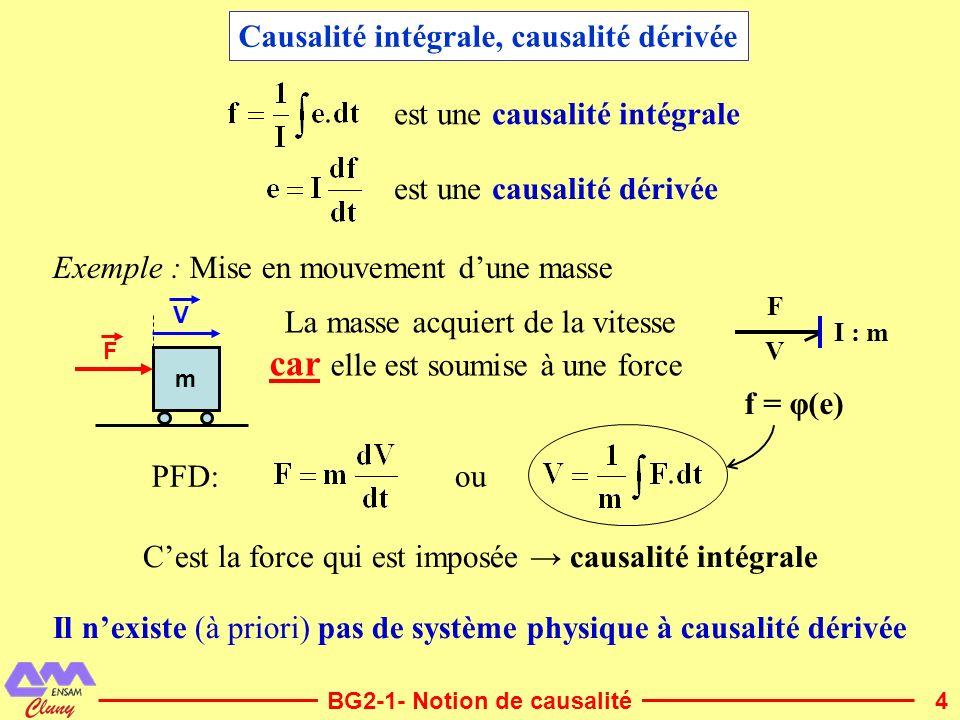 Causalité intégrale, causalité dérivée