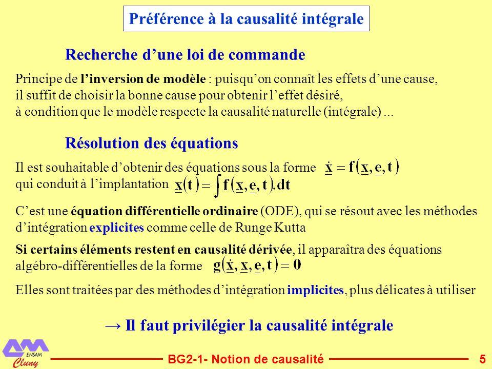 Préférence à la causalité intégrale