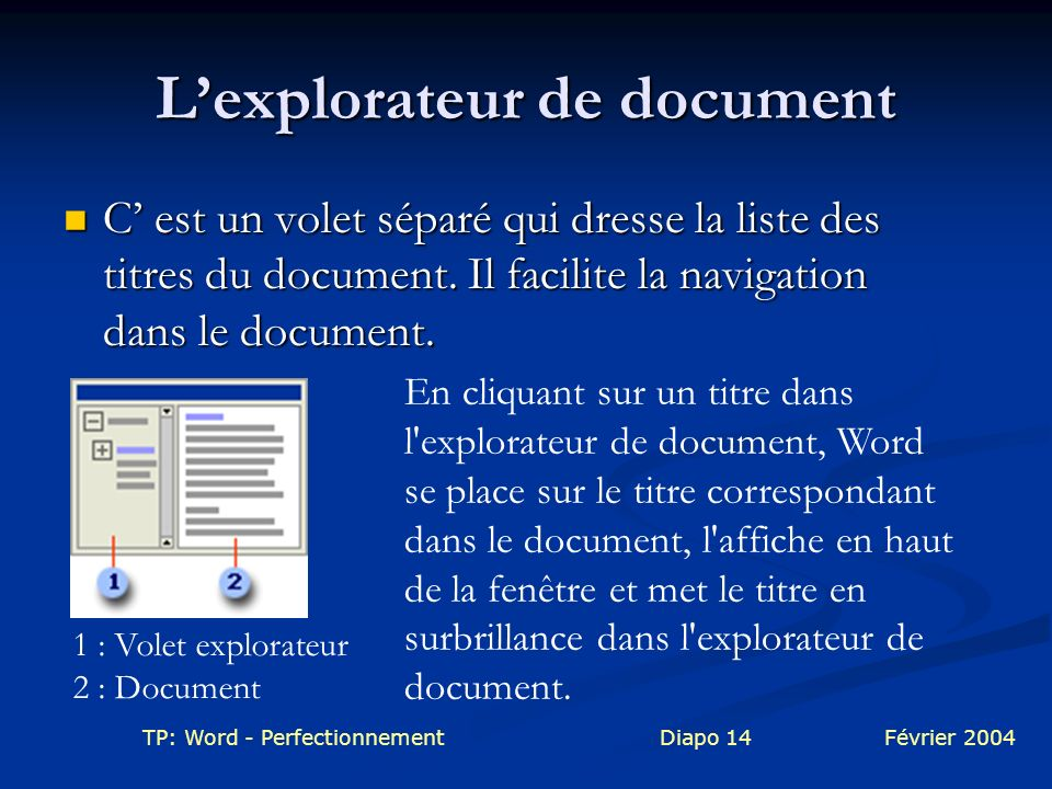 L'explorateur de document