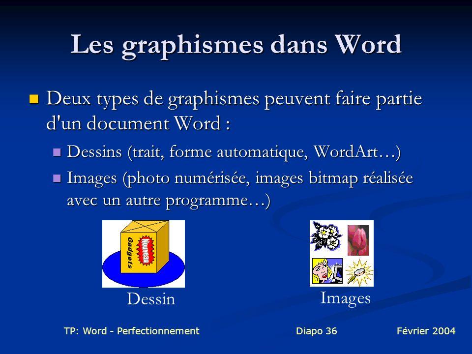 Les graphismes dans Word