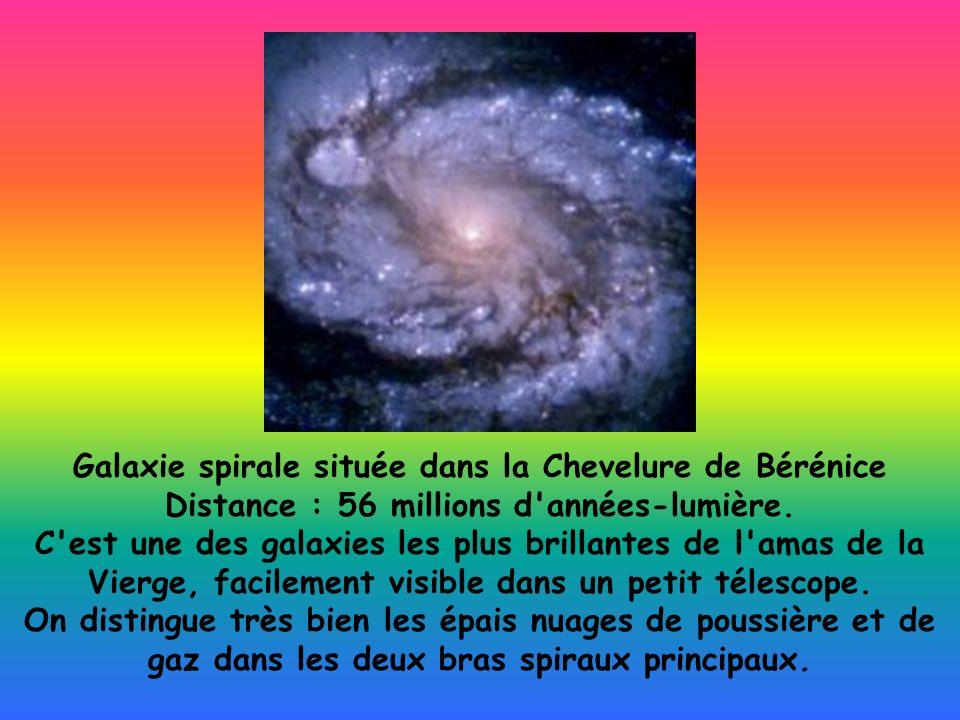 Galaxie spirale située dans la Chevelure de Bérénice Distance : 56 millions d années-lumière.