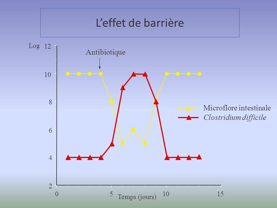 L'effet de barrière Antibiotique Microflore intestinale