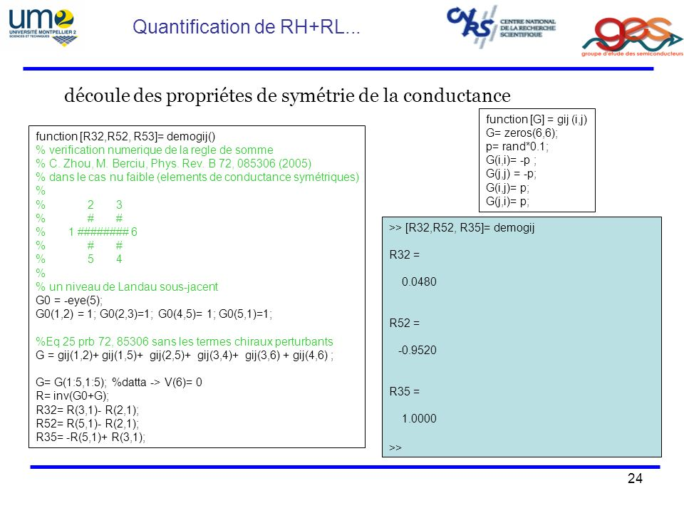 Quantification de RH+RL...