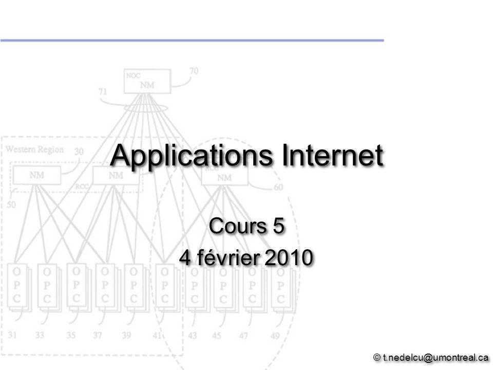 Applications Internet