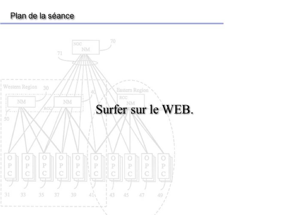 Plan de la séance Surfer sur le WEB.