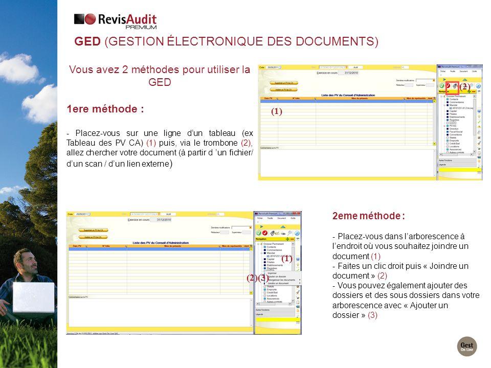 GED (Gestion Électronique des Documents)