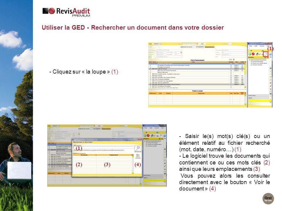Utiliser la GED - Rechercher un document dans votre dossier