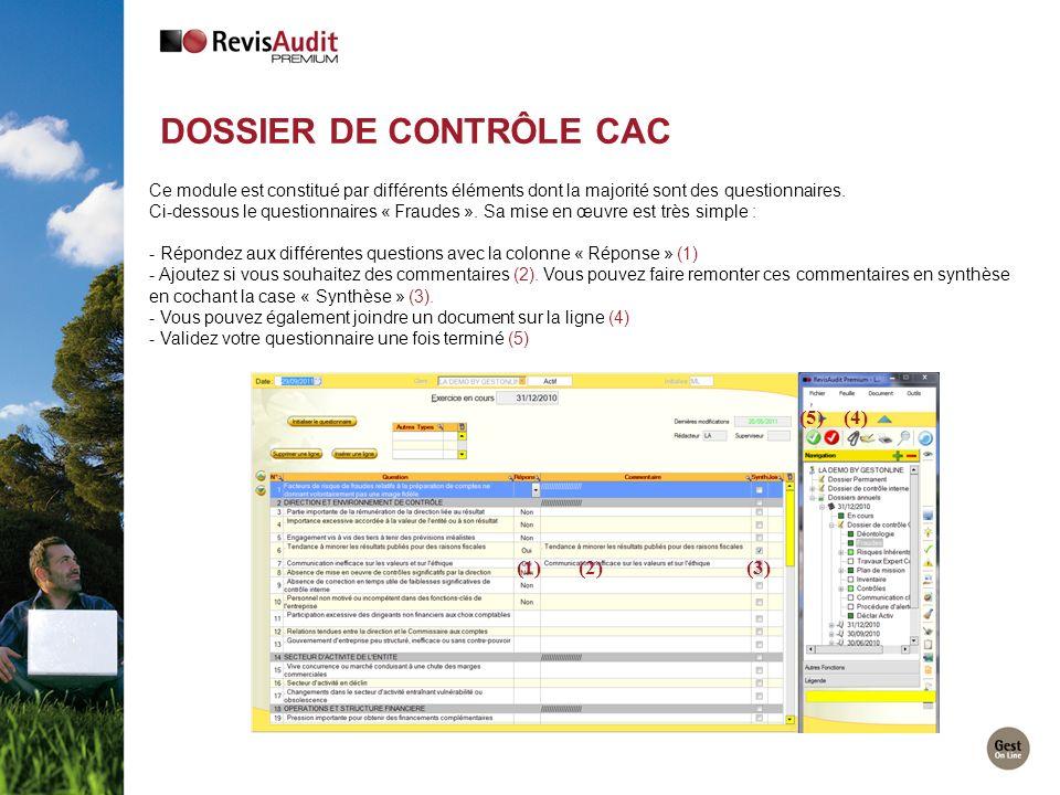 DOSSIER DE CONTRÔLE CAC