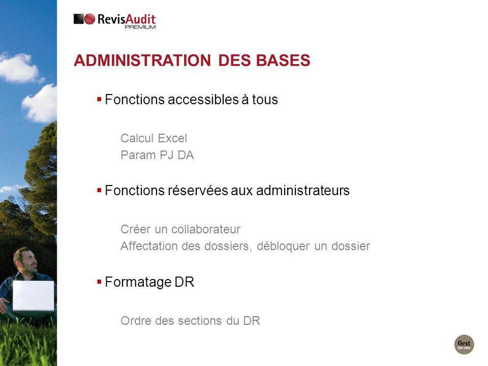 Administration des bases