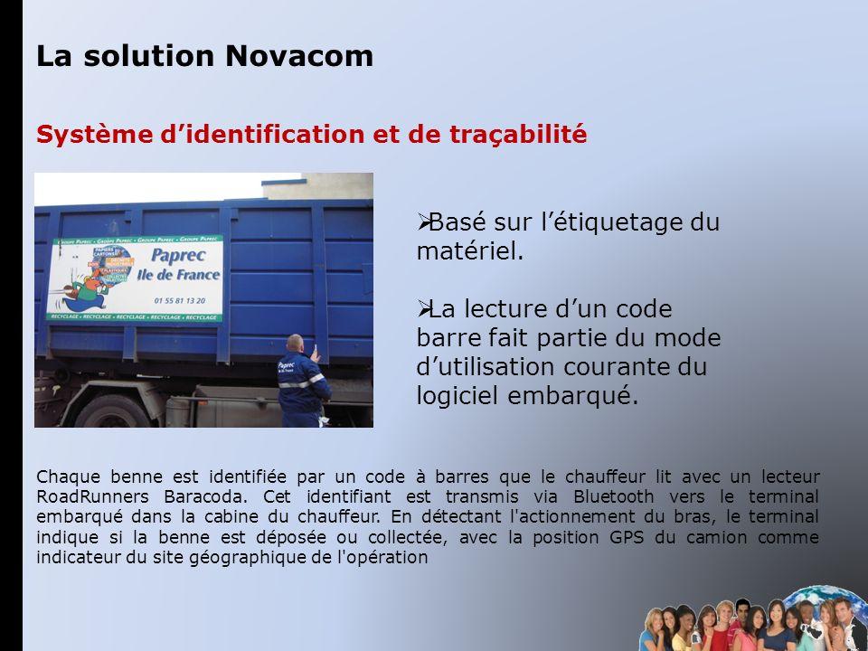 La solution Novacom Système d'identification et de traçabilité