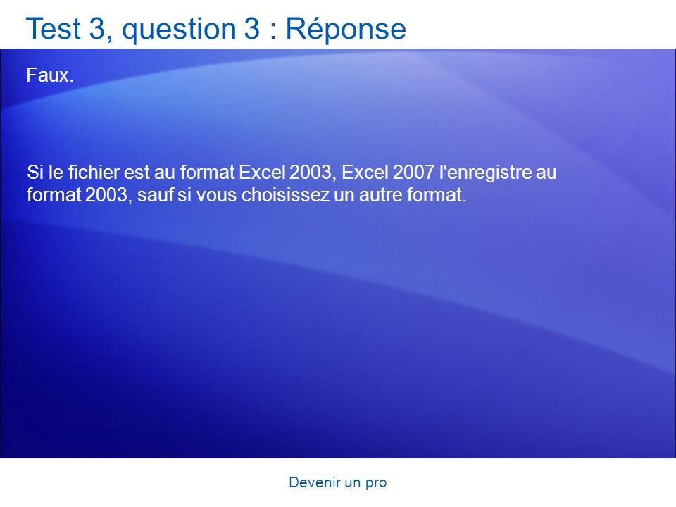 Test 3, question 3 : Réponse