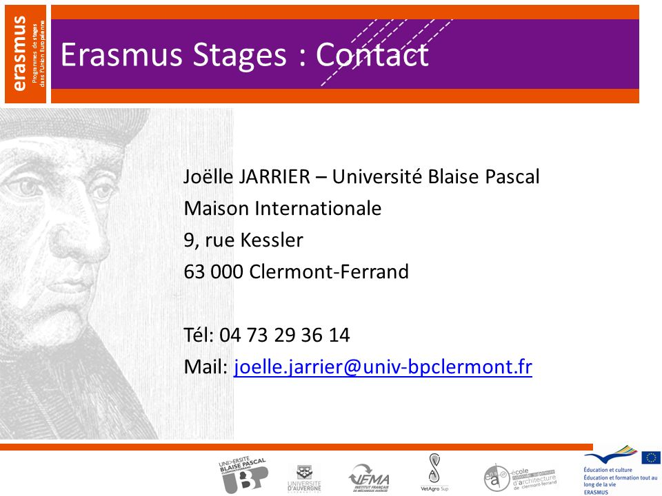 Erasmus Stages : Contact